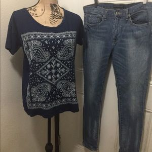 Lucky Brand Embroidered Shirt. (NWOT) Size L